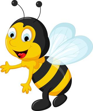 Obrazek rysunkowej pszczółki